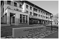 Knight Management Center, Graduate School of Business. Stanford University, California, USA ( black and white)