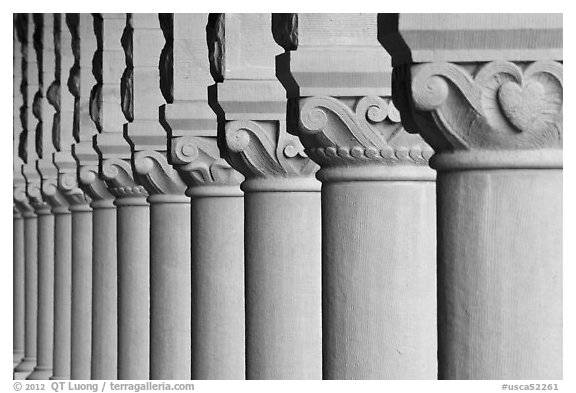 Column detail, Main Quad. Stanford University, California, USA