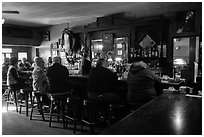 Inside Duarte Tavern, Pescadero. San Mateo County, California, USA ( black and white)
