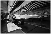 Nike Nuclear missiles in storage room. California, USA ( black and white)