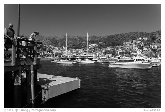 Catalina Island Black and White pictures - California stock