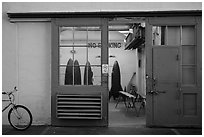 Room with rockets, Paramount Pictures Studios. Hollywood, Los Angeles, California, USA ( black and white)