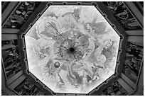 Art deco ceiling, Griffith Observatory. Los Angeles, California, USA ( black and white)