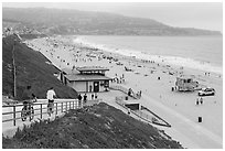 Beach from access ramp, Redondo Beach. Los Angeles, California, USA ( black and white)
