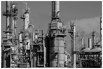 Oil refinery, Manhattan Beach. Los Angeles, California, USA ( black and white)