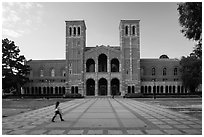 Royce Hall, UCLA landmark, Westwood. Los Angeles, California, USA ( black and white)