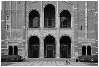 Facade of Royce Hall, University of California at Los Angeles, Westwood. Los Angeles, California, USA ( black and white)