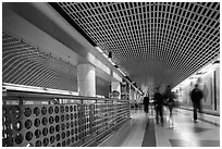 Subway corridor. Los Angeles, California, USA ( black and white)