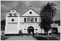 Mission Nuestra Senora Reina de Los Angeles. Los Angeles, California, USA ( black and white)