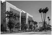 Los Angeles County Museum of Art. Los Angeles, California, USA ( black and white)