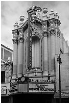 Historic Los Angeles Theater on Broadway. Los Angeles, California, USA ( black and white)
