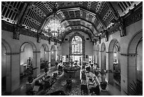 Millenium Biltmore Hotel lounge. Los Angeles, California, USA ( black and white)