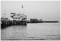 Stearns Wharff. Santa Barbara, California, USA ( black and white)