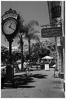 Old Town clock, State Street. Santa Barbara, California, USA ( black and white)