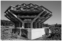 Geisel Library, in brutalist architectural style, UCSD. La Jolla, San Diego, California, USA ( black and white)