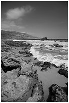 Leo Carrillo State Park, Santa Monica Mountains National Recreation Area. Los Angeles, California, USA ( black and white)