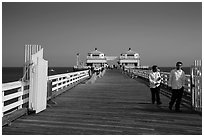 Malibu Pier. Los Angeles, California, USA ( black and white)
