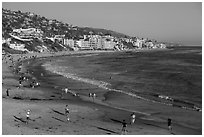 Beachfront. Laguna Beach, Orange County, California, USA ( black and white)