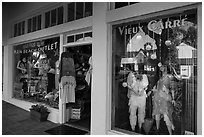 Beach store and reflection. Laguna Beach, Orange County, California, USA ( black and white)