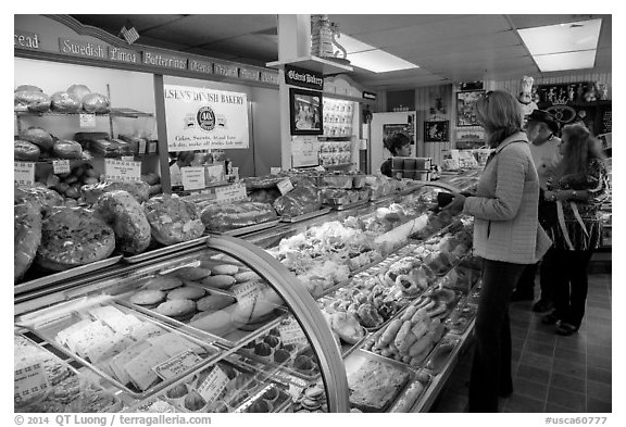Danish Bakery. Solvang, California, USA (black and white)