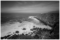 Jade Cove. Big Sur, California, USA ( black and white)