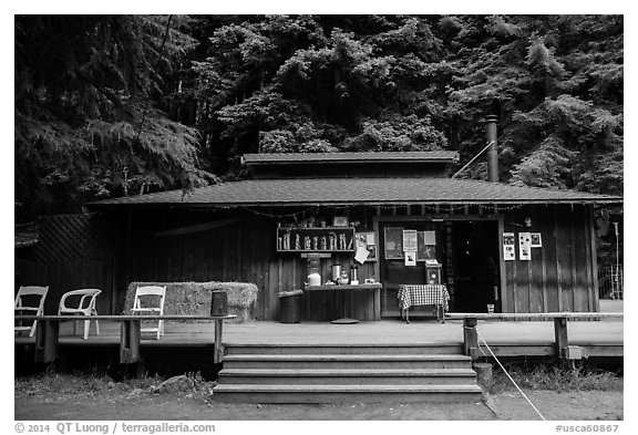 Henry Miller Memorial Library. Big Sur, California, USA (black and white)