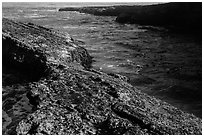 Rock and ocean, Spooners Cove, Montana de Oro State Park. Morro Bay, USA ( black and white)
