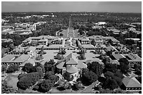 Aerial view of Main Quad. Stanford University, California, USA ( black and white)