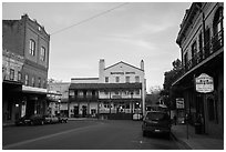 Main street, Jackson. California, USA ( black and white)