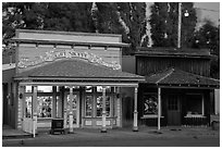 Gift shop and historic buildings, Cedarville. California, USA ( black and white)