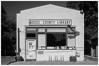 One-room Modoc County Library, Cedarville. California, USA ( black and white)