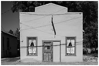 Square facade, Cedarville. California, USA ( black and white)