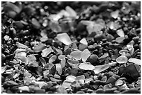 Seaglass detail. Fort Bragg, California, USA ( black and white)