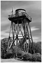 Water tower. Mendocino, California, USA ( black and white)