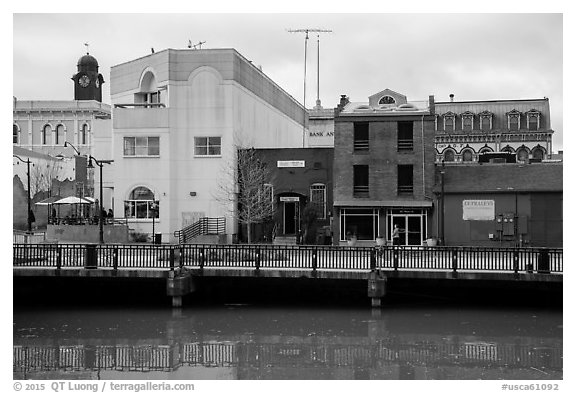 Waterfront. Petaluma, California, USA (black and white)