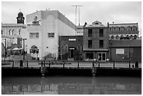 Waterfront. Petaluma, California, USA ( black and white)