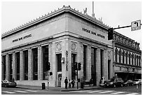 Bank reconverted as Antiques store. Petaluma, California, USA ( black and white)