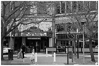 Street and Mcnear Mystic Theatre. Petaluma, California, USA ( black and white)