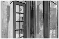 Doors and painted walls, Petaluma Mill. Petaluma, California, USA ( black and white)