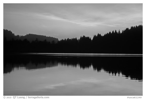 Sunset clouds, Humboldt Lagoons State Park. California, USA (black and white)