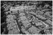 Aerial view of Villages Country Club after hailstorm. San Jose, California, USA ( black and white)