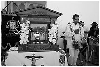 Senor de los Milagros altar, Mission San Miguel. California, USA ( black and white)
