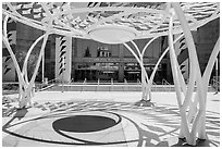 San Jose Mc Enery Convention Center in 2015. San Jose, California, USA ( black and white)