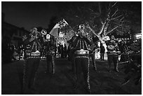 Mariachi musicians, Halloween. Petaluma, California, USA ( black and white)