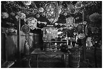 Candy booth, Halloween. Petaluma, California, USA ( black and white)
