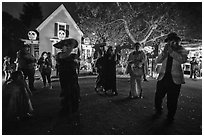 Halloween party. Petaluma, California, USA ( black and white)