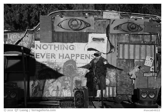 Nothing Ever Happens, Slab City. Nyland, California, USA (black and white)
