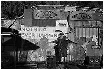 Nothing Ever Happens, Slab City. Nyland, California, USA ( black and white)