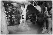 Inside Salvation Mountain. Nyland, California, USA ( black and white)
