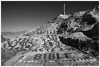 Salvation Mountain. Nyland, California, USA ( black and white)